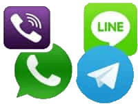 whatsapp line viber